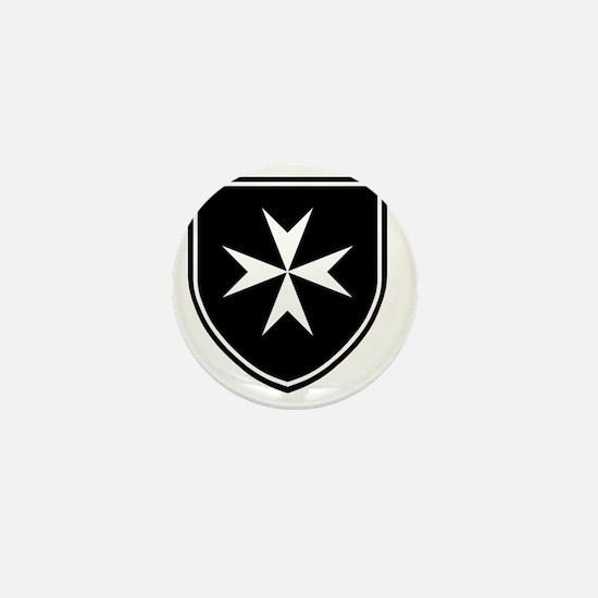 Cross of Malta - Black Shield Mini Button