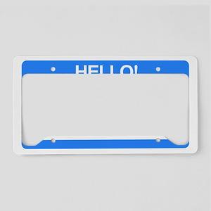 hello License Plate Holder