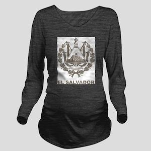 Vintage El Salvador Long Sleeve Maternity T-Shirt