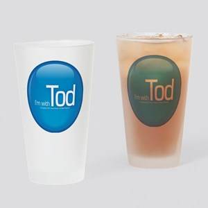 withtod_blue Drinking Glass