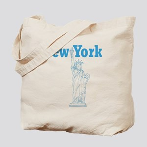 StatueOfLiberty_10x10_apparel_LBlue Tote Bag