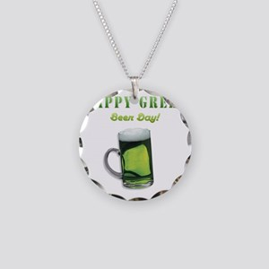 Go green-beer2 Necklace Circle Charm