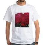 Red Rose White T-Shirt