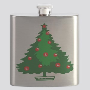 Decorated Christmas Tree Flask