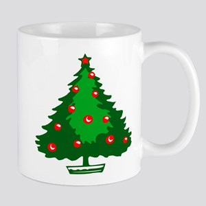 Decorated Christmas Tree Mugs
