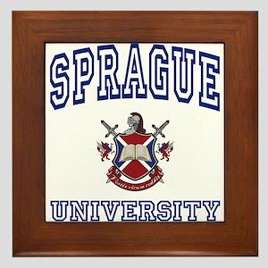 SPRAGUE University Framed Tile