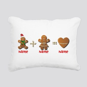 Gingerbread Man Rectangular Canvas Pillow