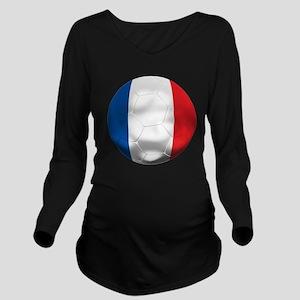 France Football Long Sleeve Maternity T-Shirt