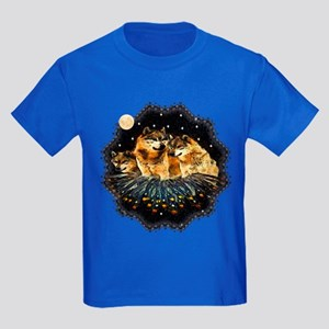 Sky Wolves Kids Dark T-Shirt
