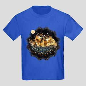 Sky Wolves Kids Dark T-Shirt