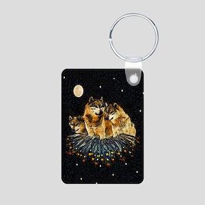 Sky Wolves Aluminum Photo Keychain