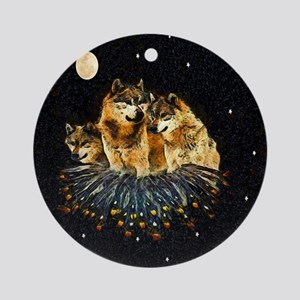 Sky Wolves Ornament (Round)