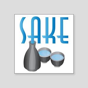 """C-256 (sake) Square Sticker 3"""" x 3"""""""