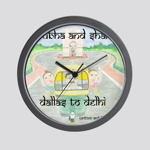 dallas to delhi Wall Clock