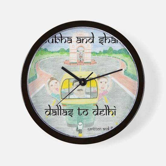 dallas to delhi Wall Clock