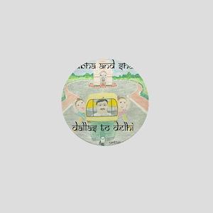 dallas to delhi Mini Button