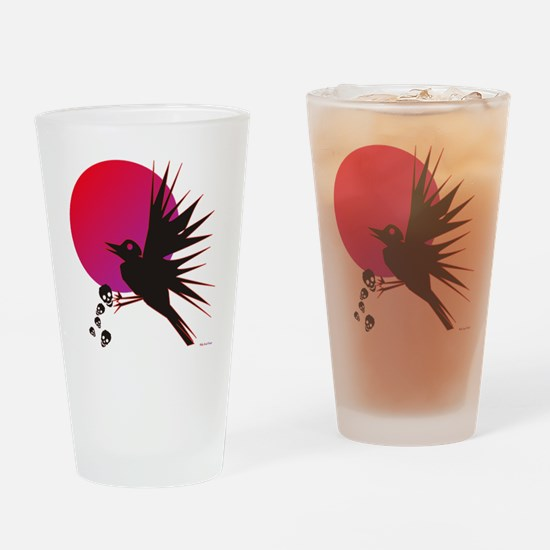 Raven Drinking Glass