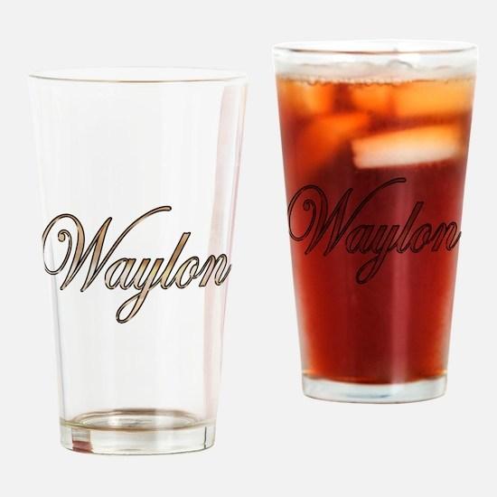 Cute Waylon Drinking Glass
