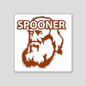 "Spooner_front Square Sticker 3"" x 3"""