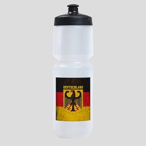Grunge Germany Flag Sports Bottle