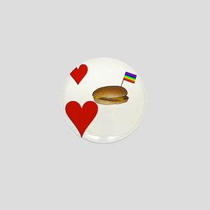LoveCheeseburgersNGays-W Mini Button