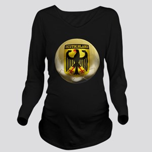 Deutschland Football Long Sleeve Maternity T-Shirt