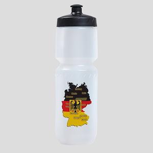 Germany Map Sports Bottle