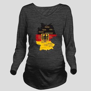 Germany Map Long Sleeve Maternity T-Shirt