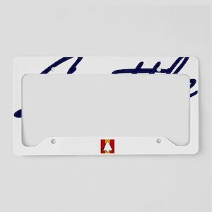 Seattle Script W License Plate Holder