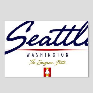 Seattle Script W Postcards (Package of 8)