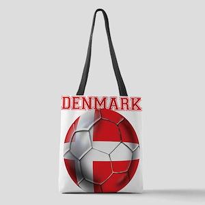 Denmark Soccer Polyester Tote Bag