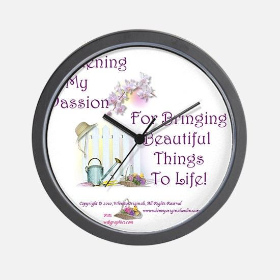 GardeningPassion1c Wall Clock