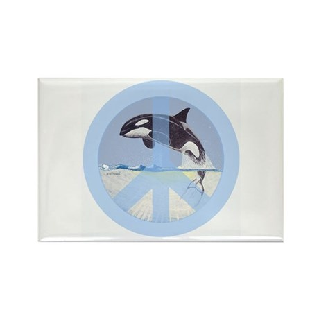 Orca Peace Rectangle Magnet (10 pack)