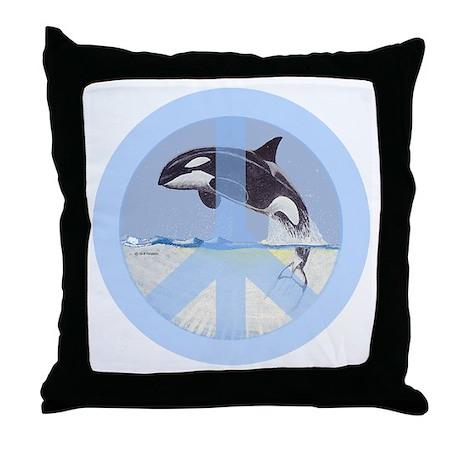 Orca Peace Throw Pillow