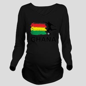 Ghana Football Long Sleeve Maternity T-Shirt