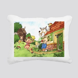 three-little-pigs Rectangular Canvas Pillow