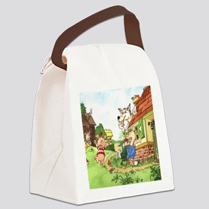 three-little-pigs Canvas Lunch Bag