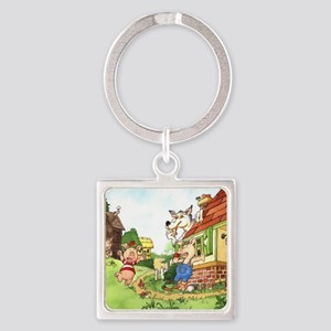 three-little-pigs Square Keychain
