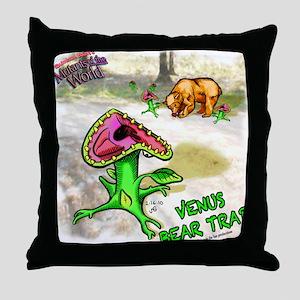 venus-bear-trap Throw Pillow