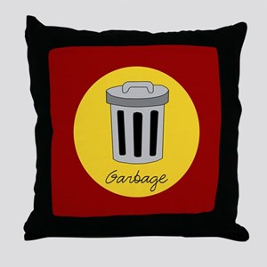 garbage Throw Pillow