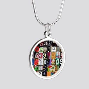 Places of Pi Silver Round Necklace