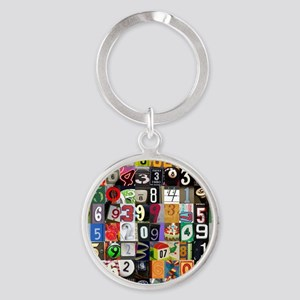 Places of Pi Round Keychain