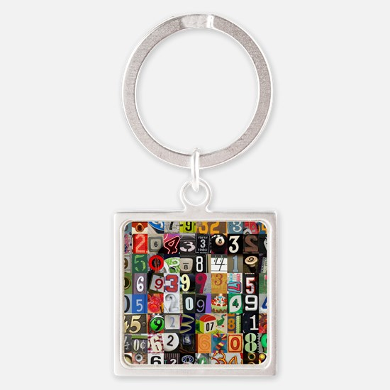 Places of Pi Square Keychain