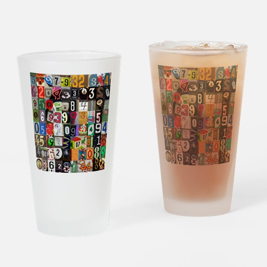 Places of Pi Drinking Glass