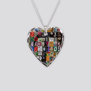 Places of Pi Necklace Heart Charm