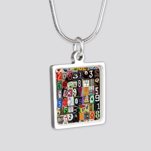 Places of Pi Silver Square Necklace