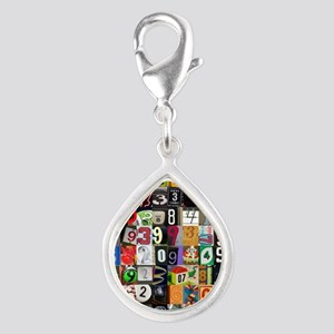 Places of Pi Silver Teardrop Charm