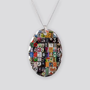 Places of Pi Necklace Oval Charm
