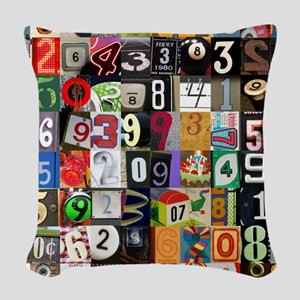 Places of Pi Woven Throw Pillow