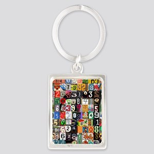 Places of Pi Portrait Keychain